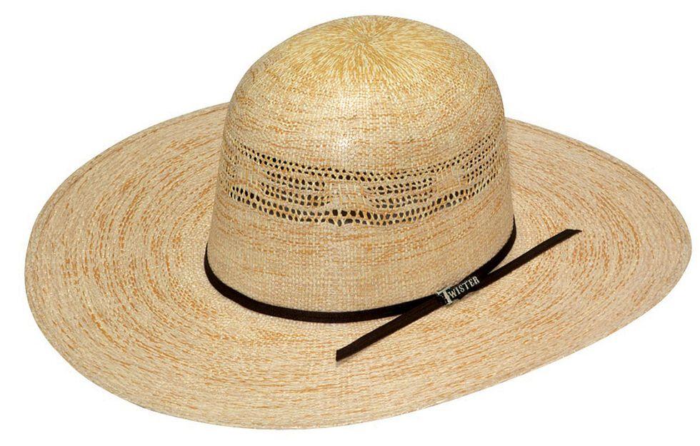 Twister Bangora Open Crown Straw Cowboy Hat, Toast, hi-res