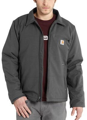 Carhartt Quick Duck Woodward Traditional Jacket, Charcoal Grey, hi-res