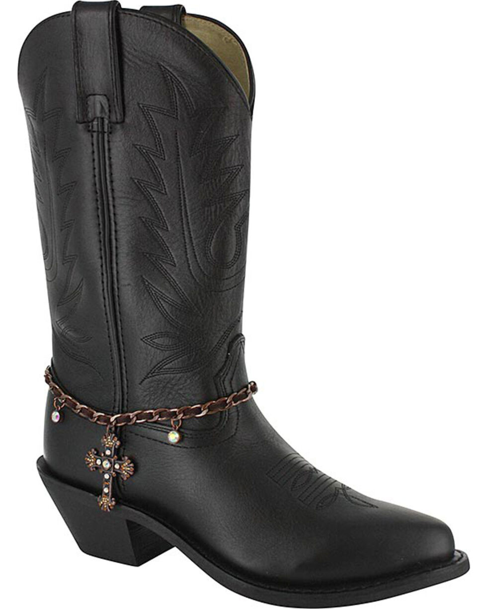 Shyanne® Women's Bronze Cross Boot Bracelet, Brown, hi-res