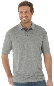 Wrangler 20X Men's Grey Advanced Comfort Short Sleeve Polo Shirt , Grey, hi-res