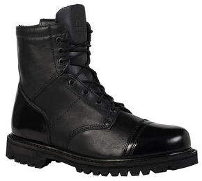 Rocky Men's Side Zipper Paraboot Duty Boots, Black, hi-res