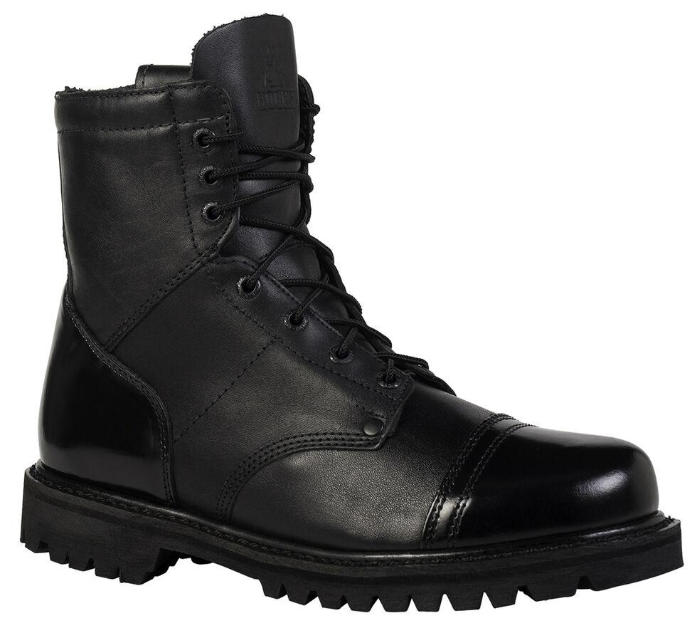 Rocky Men's Side Zipper Paraboot Duty Boots, Black, hi-res