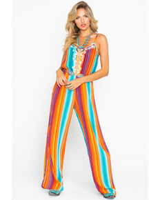 e9ea656e5d1d Rock   Roll Cowgirl Womens All Over Serape Print Jumpsuit