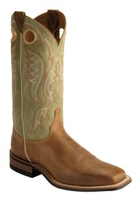 Justin Men's Bent Rail Arizona Cowboy Boots - Square Toe, Tan, hi-res