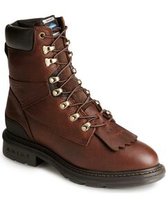 "Ariat Hermosa Cobalt XR 8"" Lace-up Work Boots - Steel Toe, Redwood, hi-res"