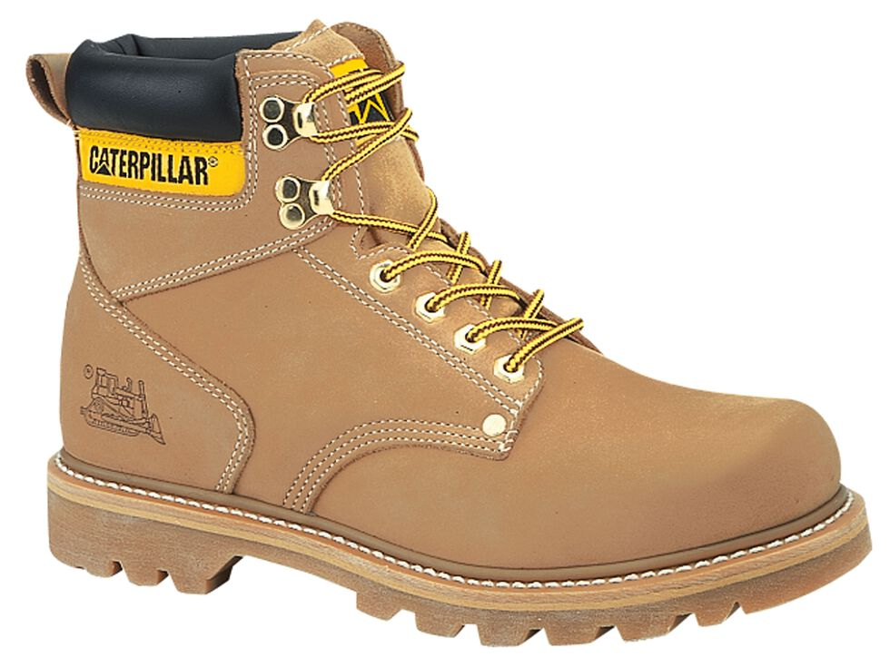 "Caterpillar 6"" Second Shift Lace-Up Work Boots - Round Toe, Honey, hi-res"