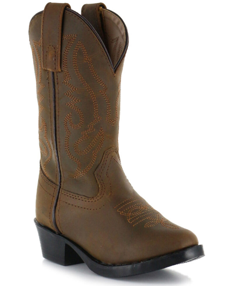 Cody James Children's Brown Western Boots  - Round Toe, Brown, hi-res