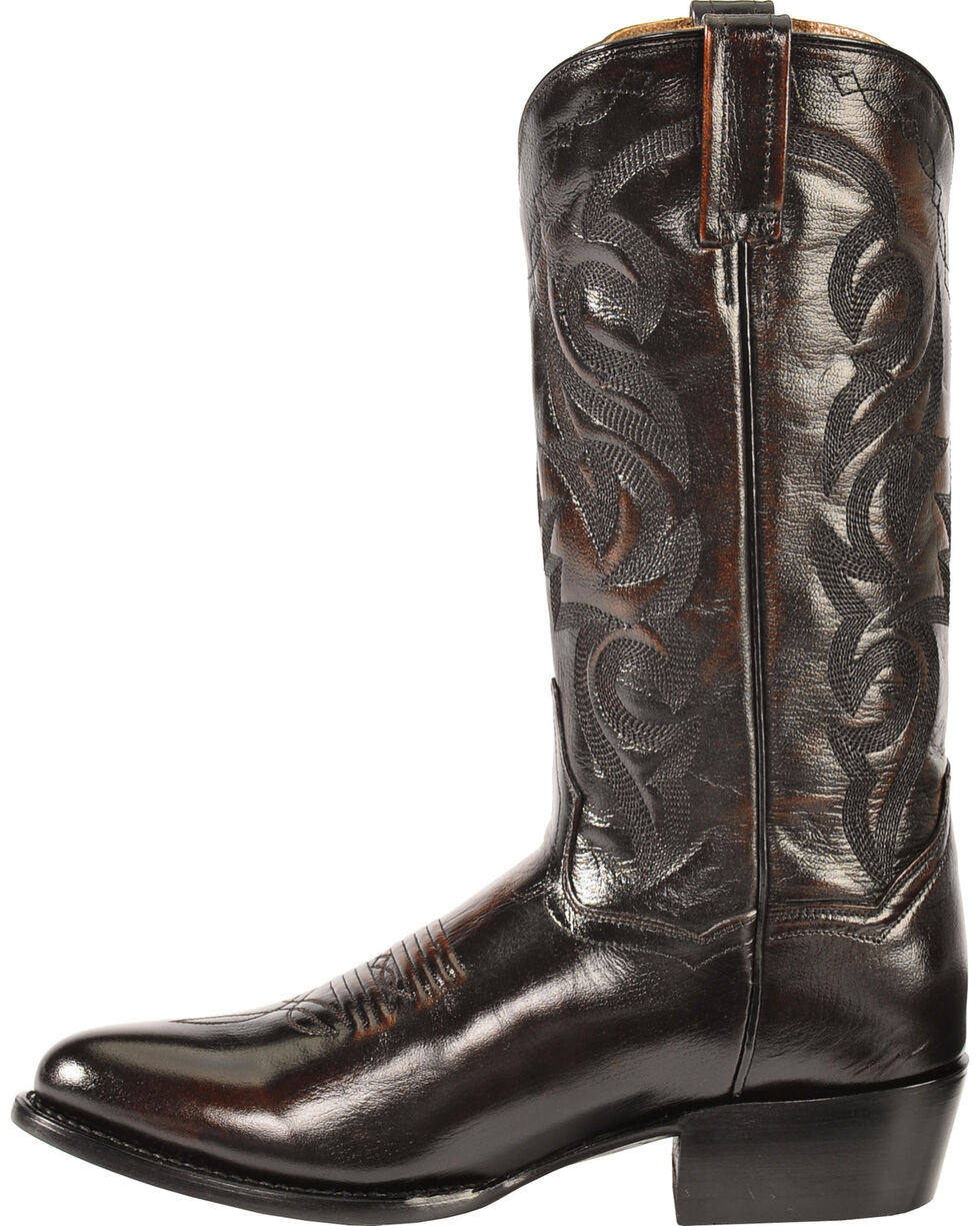 Dan Post Mignon Leather Cowboy Boots - Medium Toe, Black Cherry, hi-res