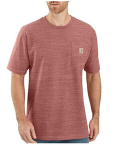 Carhartt Men's Loose Heavyweight Short Sleeve Work Pocket T-Shirt , Heather Red, hi-res