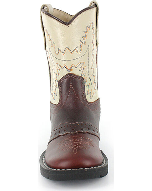 Cody James Boys' Roper Western Boots - Round Toe, Brown, hi-res