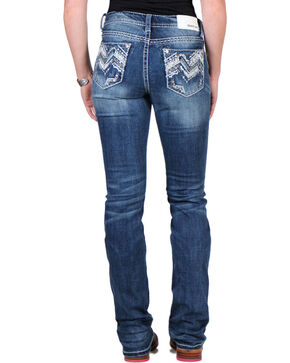 Grace in LA Women's Dark Wash Easy Fit Jeans - Boot Cut, Blue, hi-res