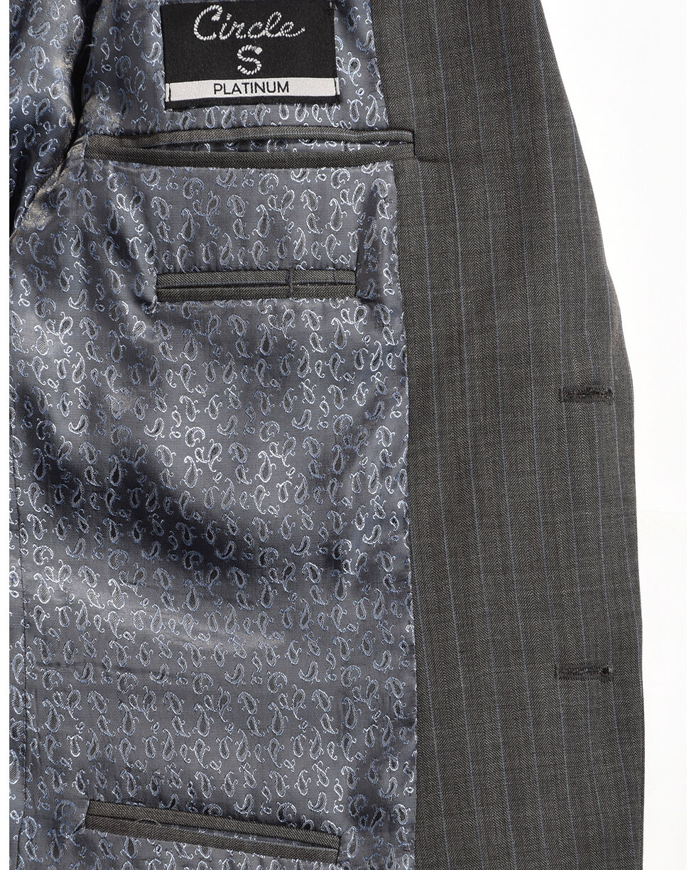 Circle S Men's Platinum Western Sports Coat, Grey, hi-res