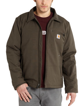 Carhartt Men's Bark Quick Duck Livingston Jacket - Big & Tall , Bark, hi-res