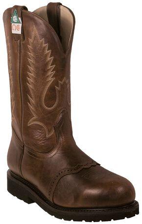 Boulet Pull-On Vibram Kevlar Work Boots - Steel Toe, Brown, hi-res