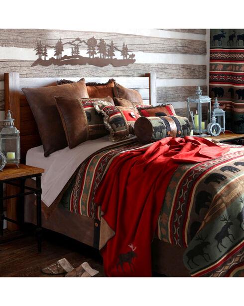 Carstens Backwoods Queen Bedding - 5 Piece Set, Green, hi-res