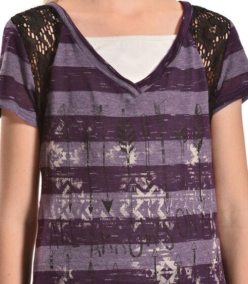 Petrol Girls' Bow & Arrow Tee, Purple, hi-res
