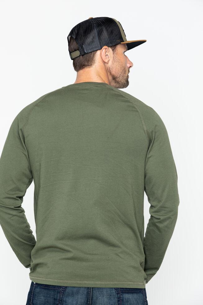 Carhartt Force Long Sleeve Work Shirt, Moss, hi-res