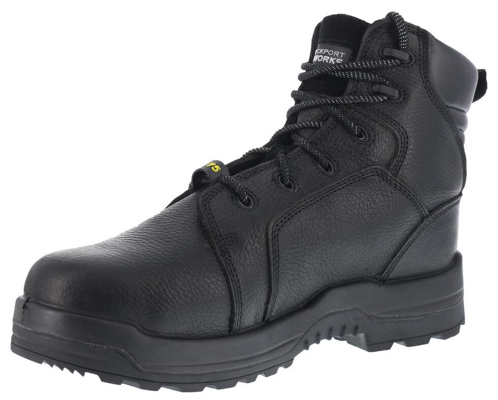 "Rockport More Energy Black 6"" Lace-Up Work Boots - Composite Toe, Black, hi-res"