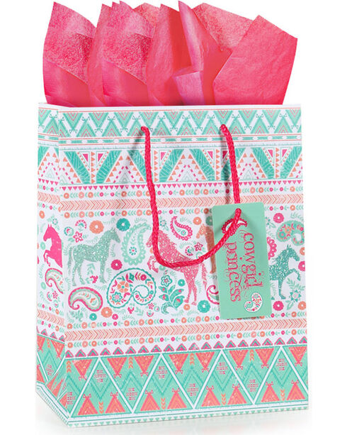 BB Ranch Cowgirl Princess Gift Bag with Tissue Paper, No Color, hi-res