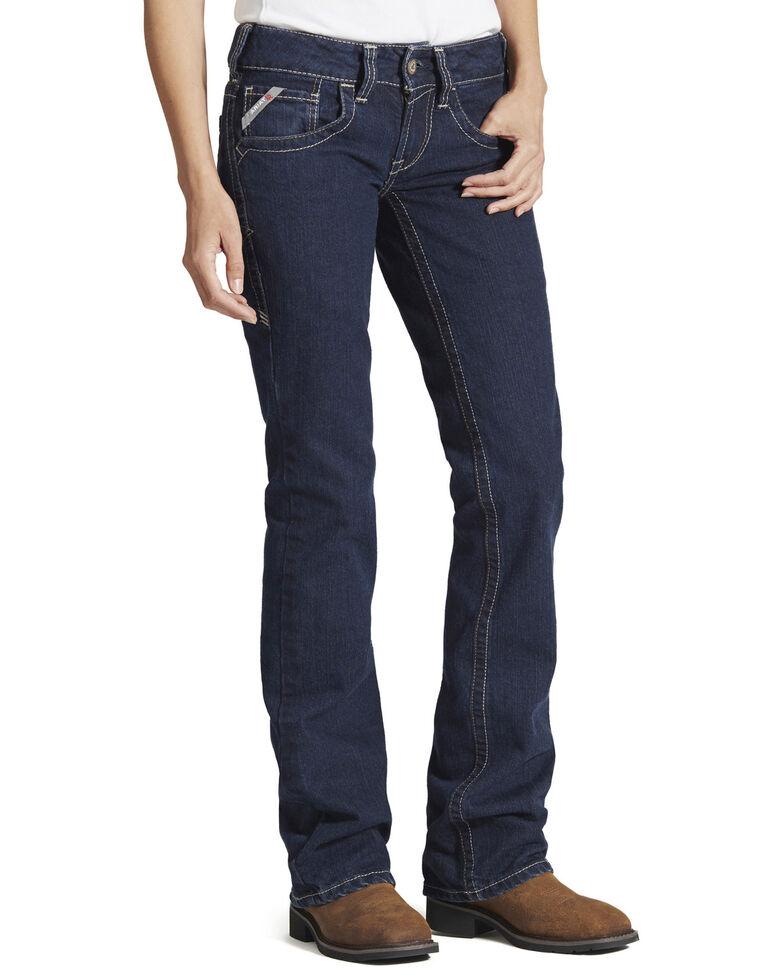 Ariat Women's Flame Resistant Bootcut Work Jeans, Stonewash, hi-res