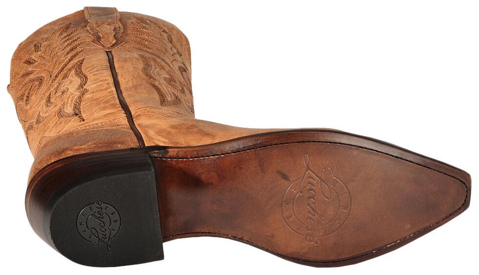Lucchese Handmade 1883 Tan Mad Dog Goatskin Cowboy Boots - Snip Toe, Tan, hi-res