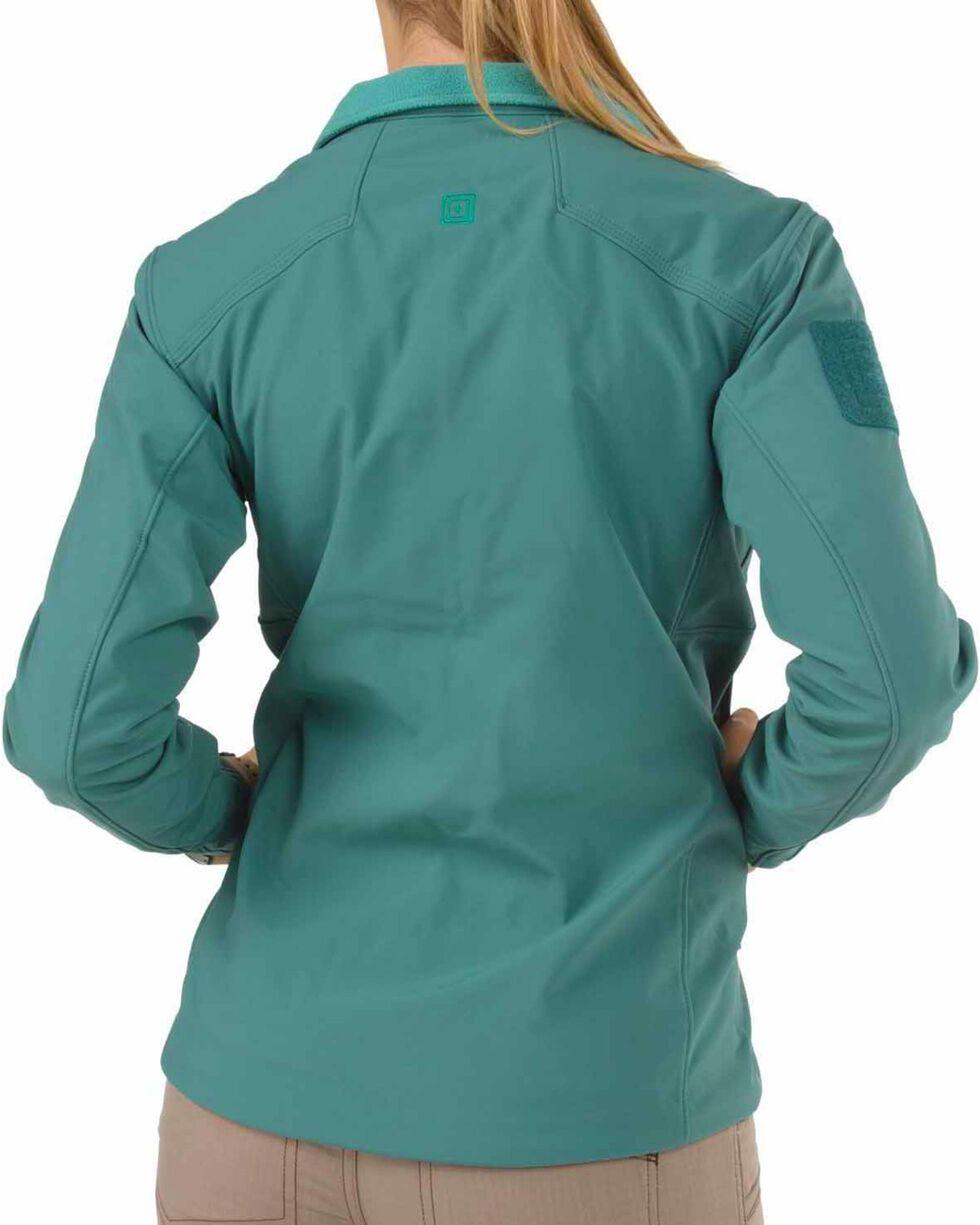 5.11 Tactical Women's Sierra Softshell Jacket, Teal, hi-res