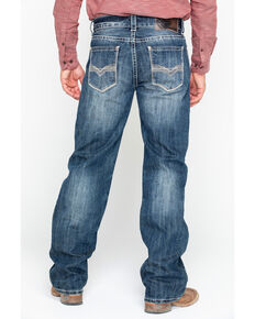 Rock & Roll Cowboy Men's Denim Stitch Double Barrel Straight Jeans , Blue, hi-res