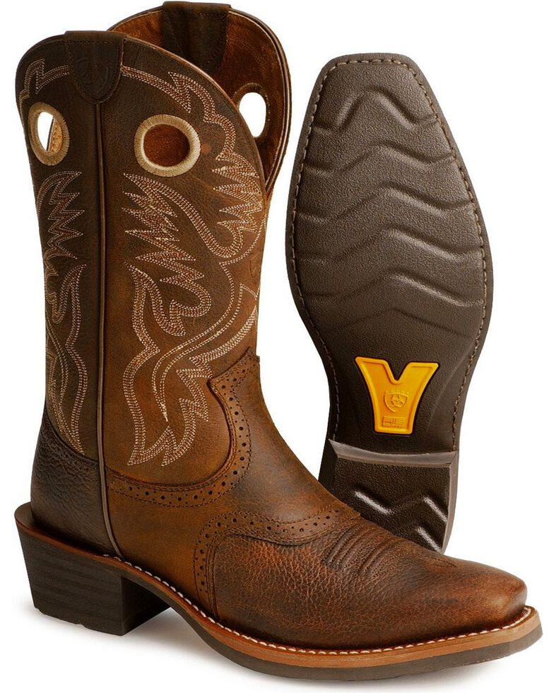3f662b00860 Ariat Men's Heritage Roughstock Western Boots - Narrow Square Toe