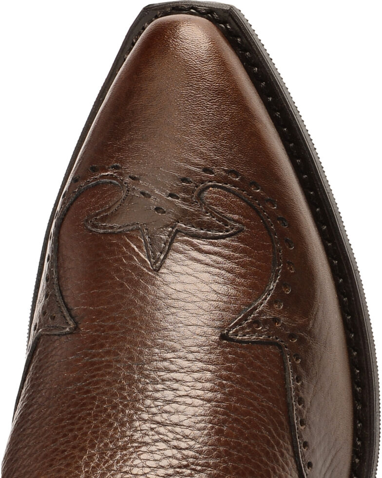 Abilene Western Wingtip Zipper Boots - Snip Toe, Chocolate, hi-res