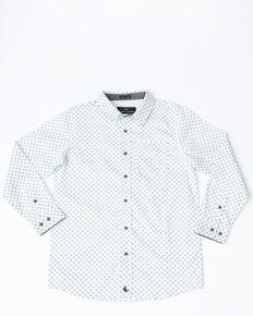 879d092f1 Cody James Boys Horseshoe Geo Plaid Long Sleeve Western Shirt , White,  hi-res