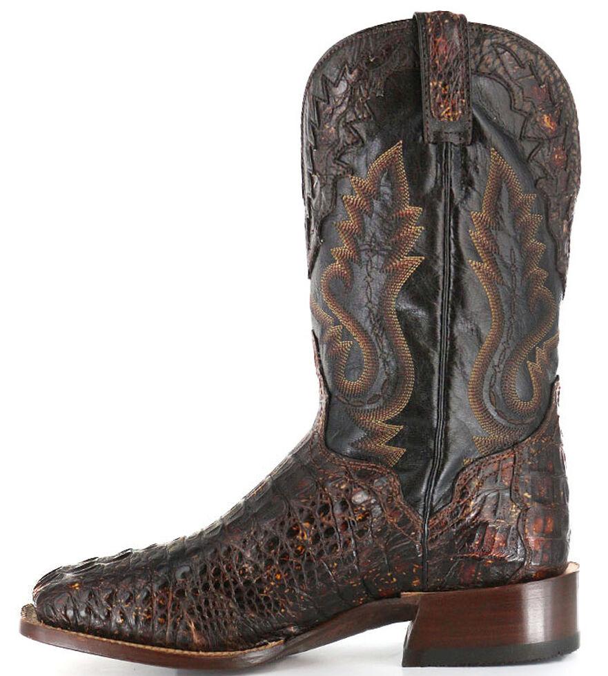 El Dorado Handmade Caiman Cowboy Boots - Wide Square Toe, Suntan, hi-res