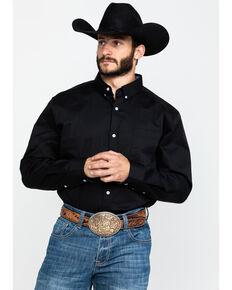 Cody James Core Black Solid Performance Twill Long Sleeve Western Shirt - Big & Tall , Black, hi-res