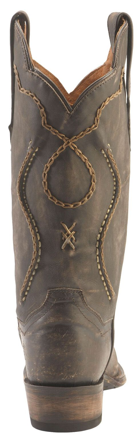 Dan Post Tyree Chain Lace Cowboy Boots - Snip Toe, Chocolate, hi-res