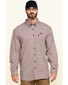 Cinch Men's FR Multi Plaid Long Sleeve Work Shirt , Multi, hi-res