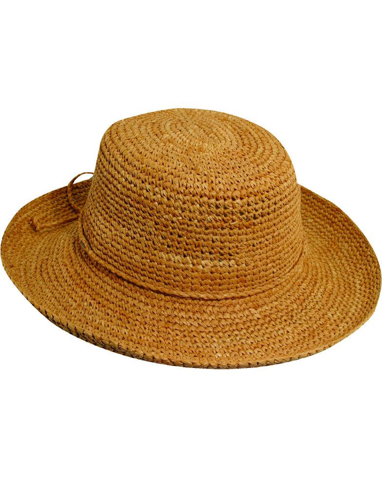 d4e5af9f94671 Scala Women s Packable Organic Crocheted Raffia Hat