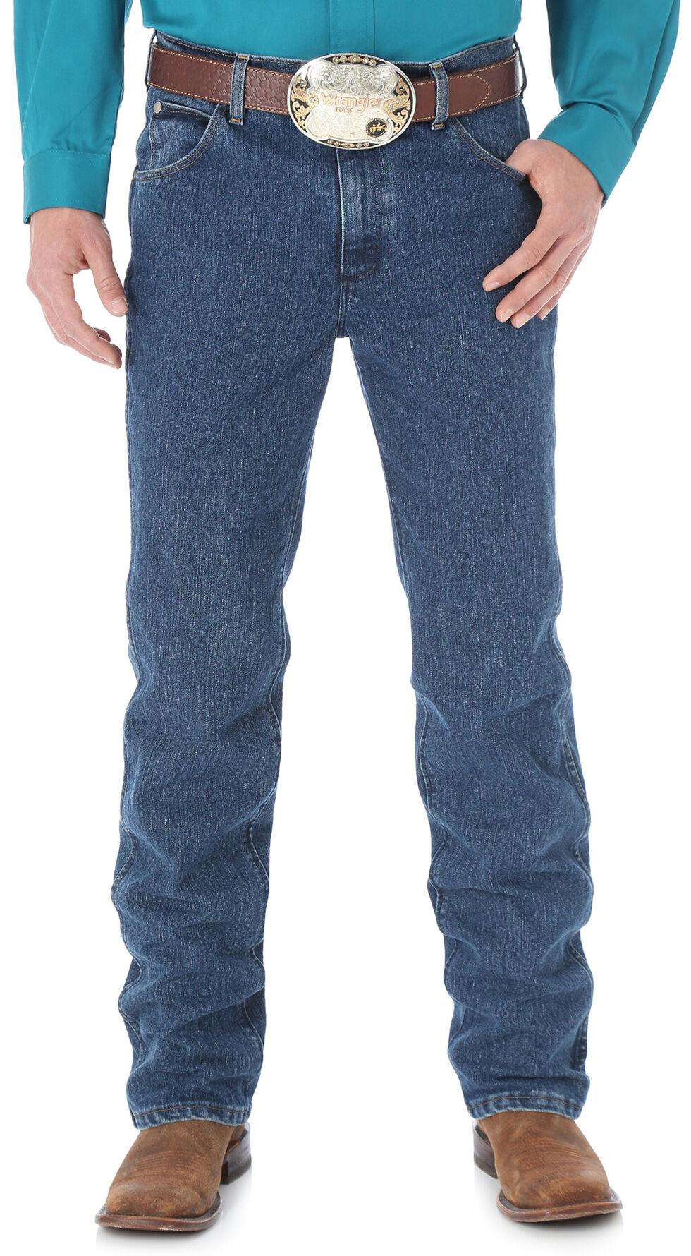 Wrangler Men's Premium Performance Cool Vantage Cowboy Cut Slim Fit Jeans, Dark Stone, hi-res