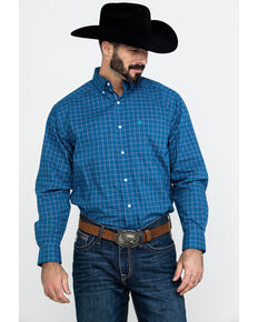 Ariat Men's Bardonas Stretch Plaid Long Sleeve Western Shirt , Multi, hi-res