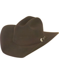 Justin Men's Chocolate 25X The Boss Felt Cowboy Hat , Chocolate, hi-res