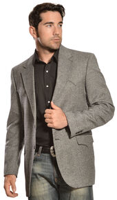 Circle S Men's Lambswool Plano Sport Coat, Black, hi-res