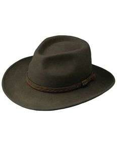 Outback Trading Co. Men's High Country Crushable Wool Hat, Serpent, hi-res