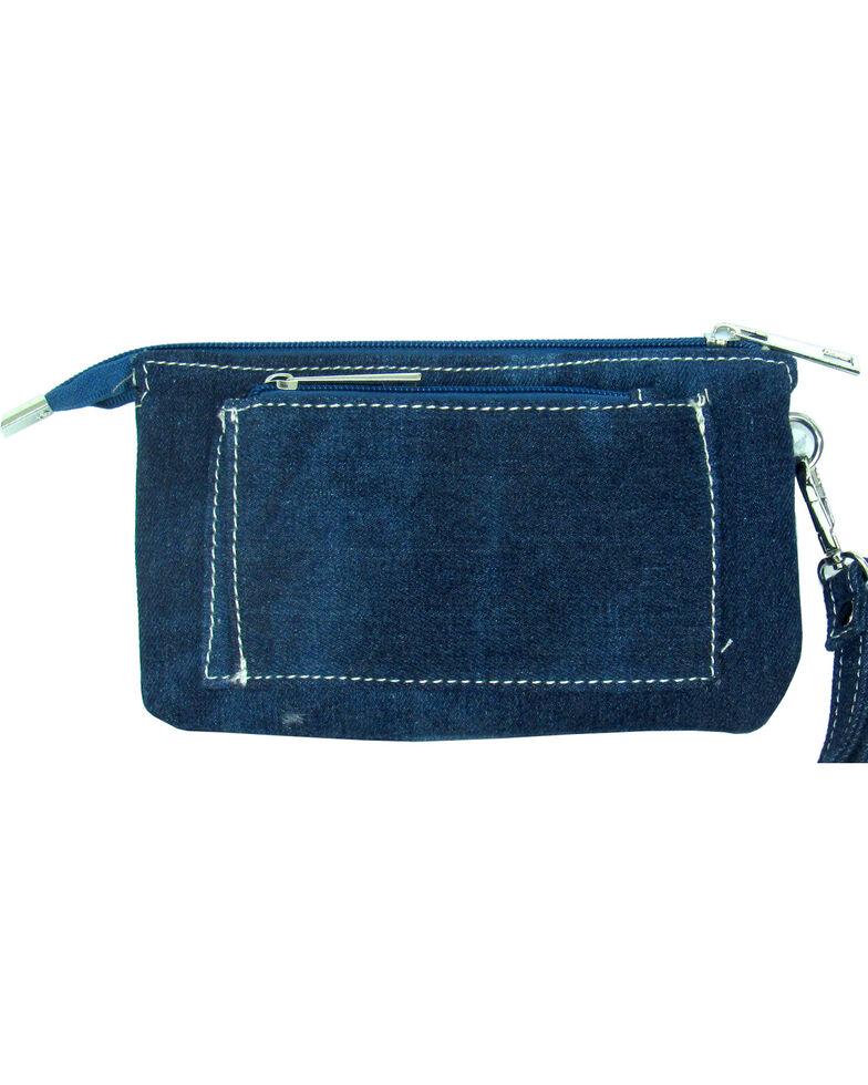Savana Women's Faux Leather Clutch Zip Wristlet *DISCONTINUED*, Blue, hi-res