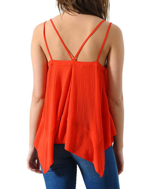 HYFVE Women's Flowing Strappy Tank, Red, hi-res
