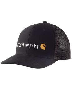 Carhartt Men's Black Fitted Canvas Rugged Flex Graphic Mesh Cap, Black, hi-res
