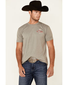 Lazy J Ranch Men's Sage Hereford Conquest Graphic Short Sleeve T-Shirt, Sage, hi-res