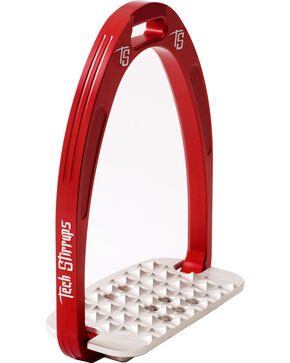 Tech Stirrups Red Iris Cross Country Irons , Red, hi-res