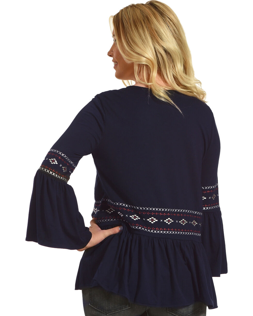 Angel Premium Women's Navy Carly Top , Navy, hi-res