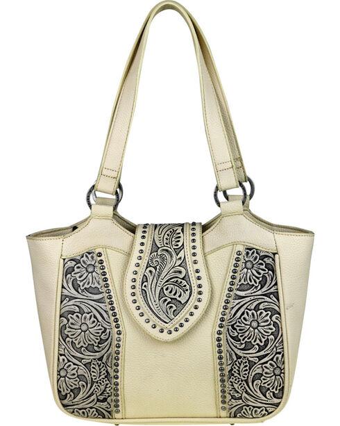 Montana West Trinity Ranch Genuine Floral Tooled Handbag , , hi-res