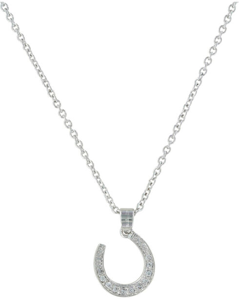 Montana Silversmiths Catch Me Some Luck Horseshoe Necklace, Silver, hi-res