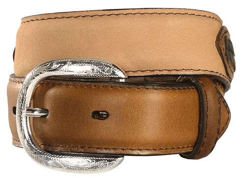 M & F Western Kids' Lacing & Concho Belt, Brown, hi-res