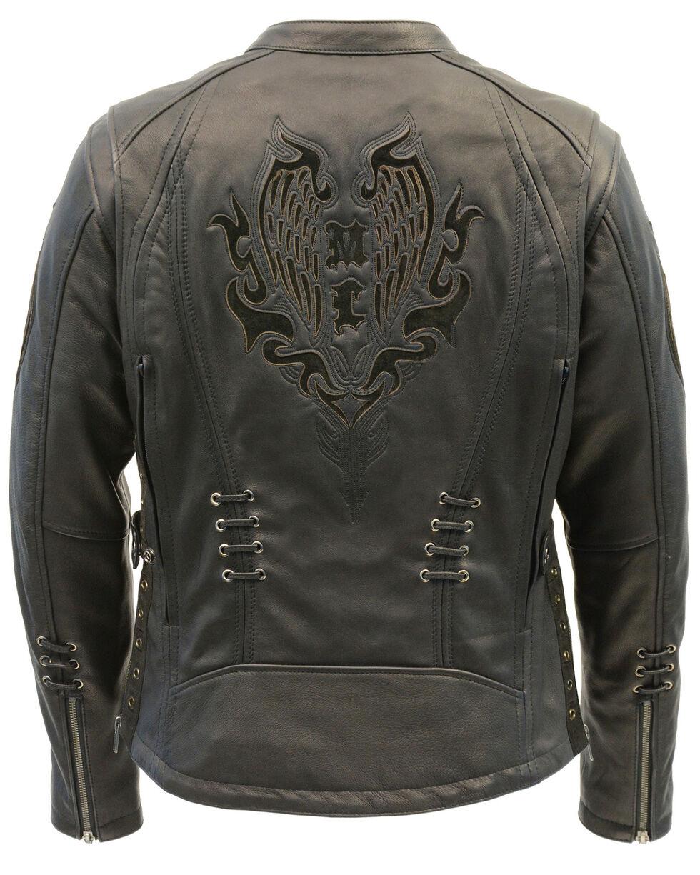 Milwaukee Leather Women's Lightweight Scuba Racer Jacket - 5X, Black, hi-res